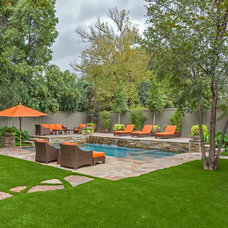 Contemporary Pool by Conservation Grass