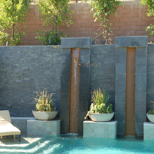 Inspiration for a contemporary pool remodel in Las Vegas