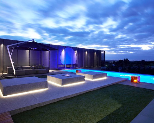 Cool Outdoor Lights Cool outdoor lights houzz pool contemporary rectangular pool idea in melbourne workwithnaturefo