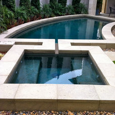 Contemporary Pool by The Design Build Company