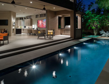 Contemporary Landscape and Pool Lap Design