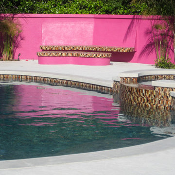 Contemporary Landscaping   Freeform Pool