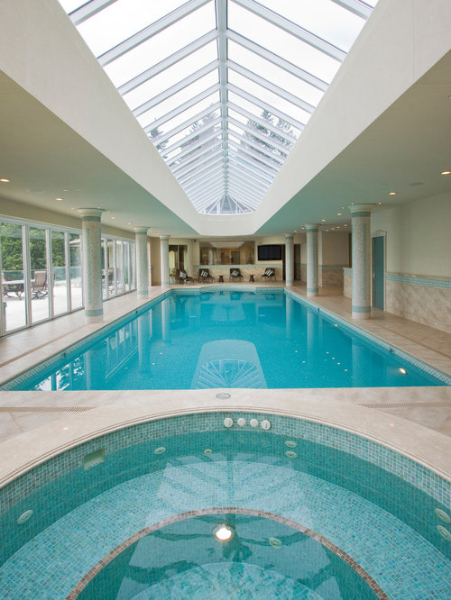 Indoor pool houzz for Residential swimming pool designs