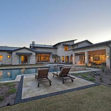 Contemporary Pool by Bulhon Design Associates