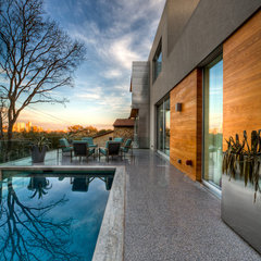 contemporary pool by Dick Clark Architecture