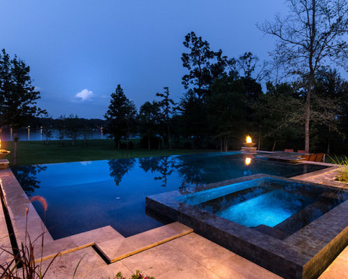 Inspiration For A Contemporary Pool Remodel In Houston