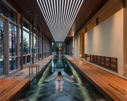 Residential indoor pools houzz for Indoor lap pool cost