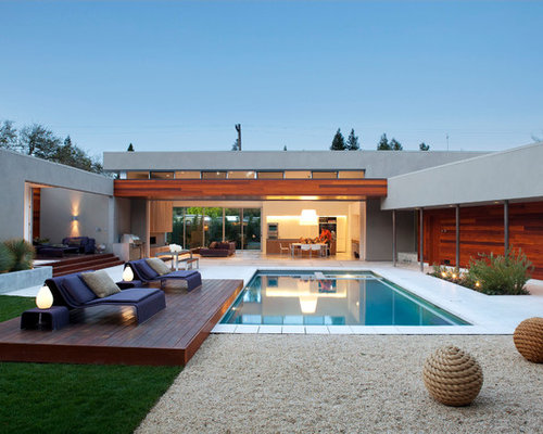 example of a trendy courtyard rectangular pool design in los angeles - Pool Design Ideas