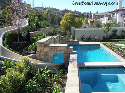 contemporary pool by Green Scene Landscaping & Pools