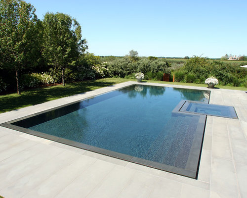 Negative edge pool houzz for Pool negative edge design