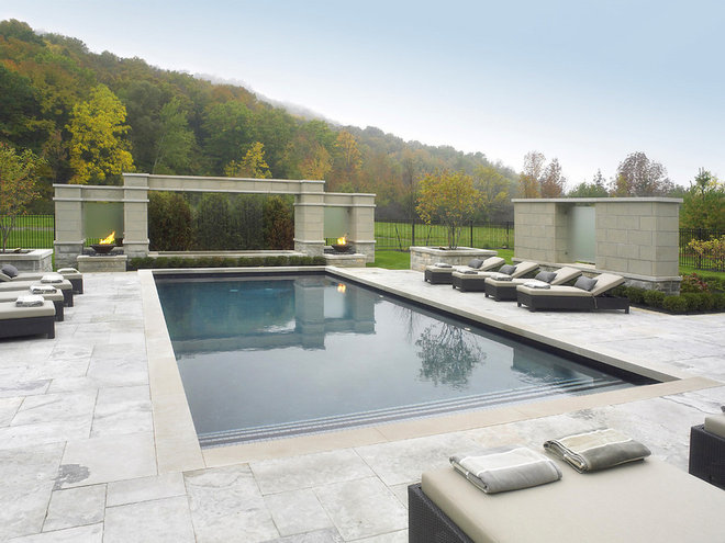 Contemporary Pool by K West Images, Interior and Garden Photography