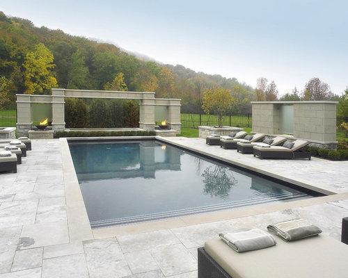 Thick limestone pool coping home design ideas pictures for Modern contemporary swimming pools