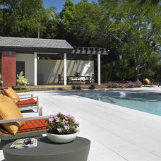 Contemporary Pool by Michael Wolk Design Associates