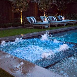 contemporary pool, pergola and landscape