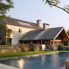 Farmhouse Pool Contemporary Pool