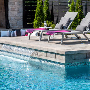 Contemporary Style Poolside
