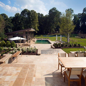 Contemporary Suburban Pool house