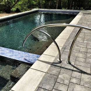 Contemporary Swimming Pool with Auto Cover