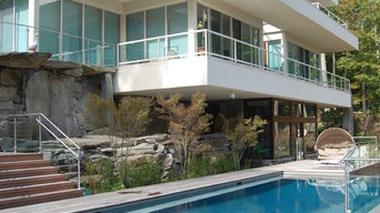 contemporary two sided vanishing edge pool + catch pools