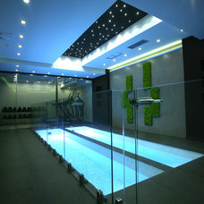 Contemporary Pool by Control4