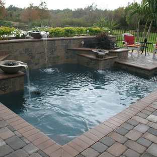 Inspiration for a transitional pool remodel in Orlando
