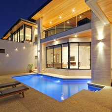 Contemporary Pool by The Design Mill