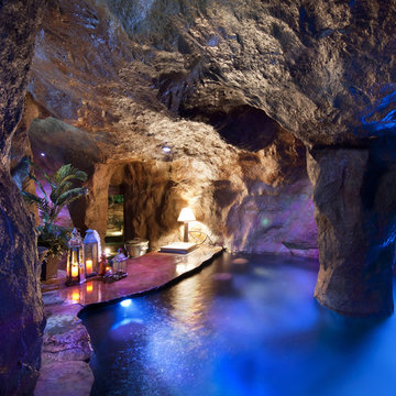 """""""Cool Pools"""" in Oklahoma with Swim Through Grotto and Waterfall"""