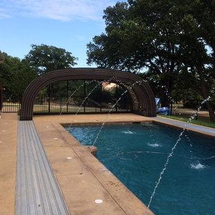 Copper Canyon, Texas Retractable Pool Enclosure - Laguna Design