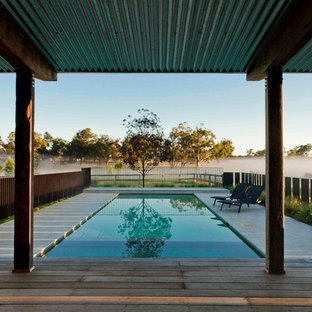 This is an example of a country backyard pool in Sydney.