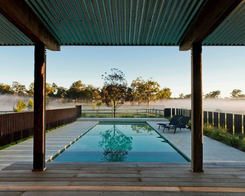 Pool Fencing Ideas decks for above ground pools white brown wooden fence This Is An Example Of A Farmhouse Full Sun Backyard Landscape In Sydney For Summer