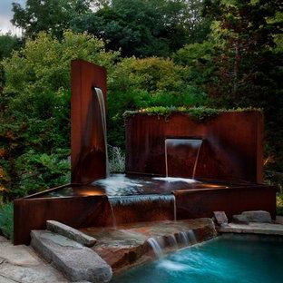 Corten Steel Pool Fountain