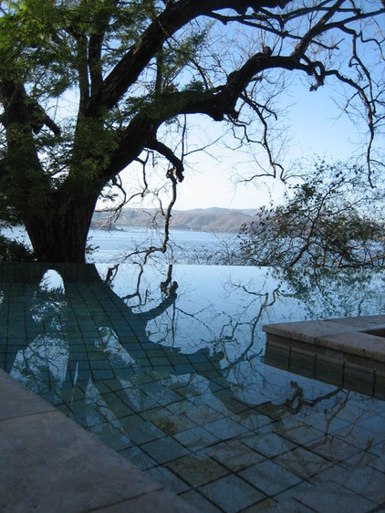 Contemporary Pool by MRA Landscape