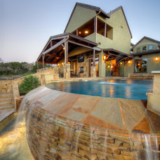 Rustic Pool by Diamante Custom Homes