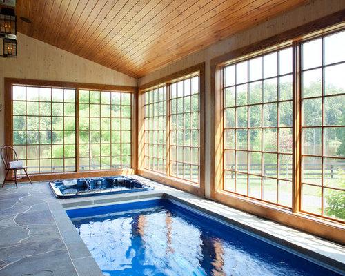 diseo de piscina de estilo de casa de campo interior