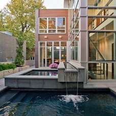 Contemporary Pool by FRICANO CONSTRUCTION CO