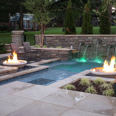 Modern Pool by Marlin Landscape Systems