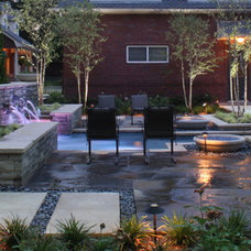 Modern Pool by Marlin Landscape Systems