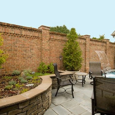 Traditional Pool by Pine Hall Brick Company
