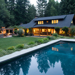 Design ideas for an arts and crafts front yard pool in San Francisco.