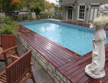 Creating outdoor living space - Above Ground Pool
