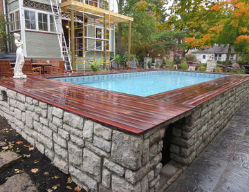 Creating outdoor living space - pool and 2nd story porch