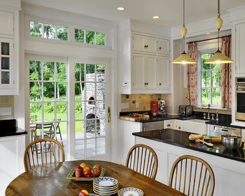French Door Off Kitchen | Houzz