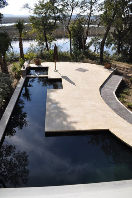Contemporary Pool by Frederick + Frederick Architects