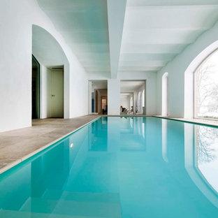 swimmingpool design ideen flachen, pool mit stempelbeton ideen, design & bilder | houzz, Design ideen