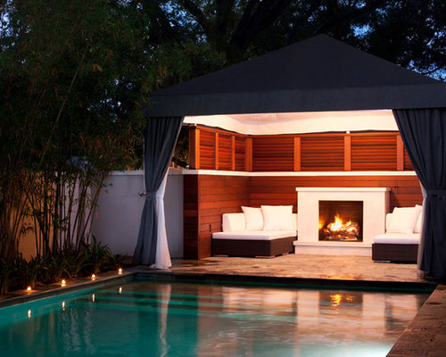 Pool cabana kits houzz for Garden cabana designs