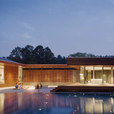Contemporary Pool by Hufft Projects
