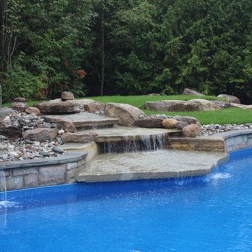 Custom Backyard and Pool