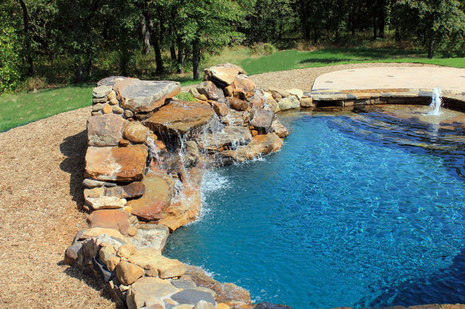 Contemporary Pool by One Specialty Landscape Design, Pools & Hardscape