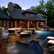 Contemporary Pool by McSpadden Custom Homes