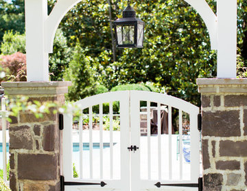 Custom gates lead to a relaxing inground pool